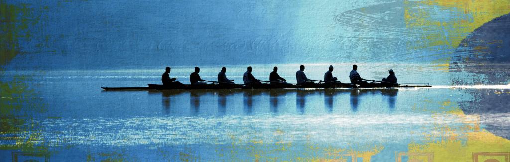 Genesis lawyers rowing as a team