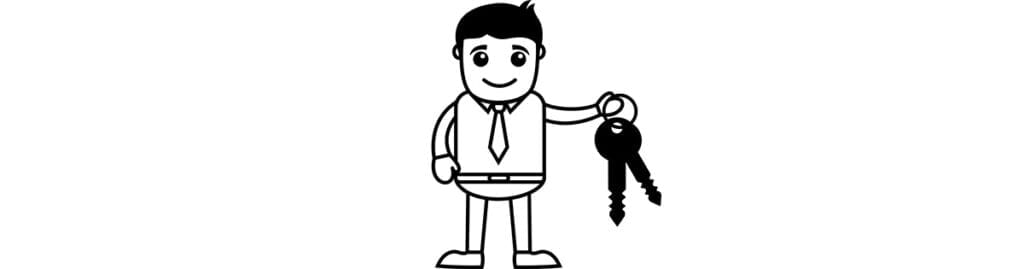 mobile home owner with keys