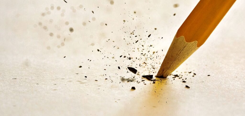 Picture of frustrated parent breaking pencil because ex isn't following the court's orders.