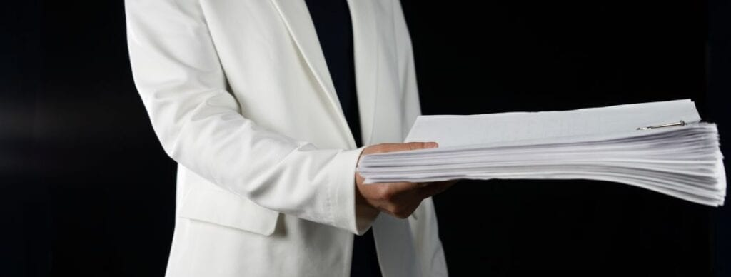 Picture of Someone Serving Divorce Documents